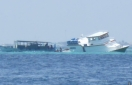 Cargo boat en route to Felidhoo wrecks on Vaadhoo reef