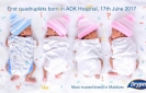 Free diapers to first quadruplets born at ADK Hospital