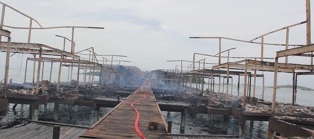Fire in Hudhuranfushi leaves 5 injured, 17 rooms destroyed
