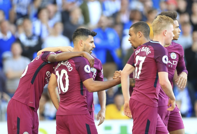 City avoids early strain of title rivals by beating Brighton