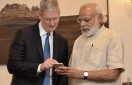 Apple CEO Cook, Indian Prime Minister Modi meet in New Delhi