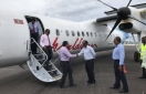 First plane lands in Kudahuvadhoo airport - A dream come true for the people