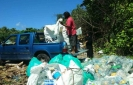 54 jumbo bags of plastic wasted collected from Dhigurah beach