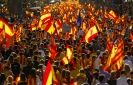 Hundreds of thousands rally against Catalonia secession
