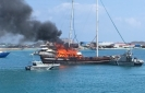 Safari harbored at Hulhumale' engulfed in flames
