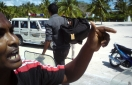Police rally at SH. Funadhoo after Councils refused to comply with Home Ministry