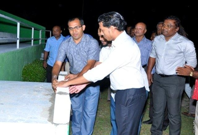 Hithadhoo Zone Stadium development project officially begins