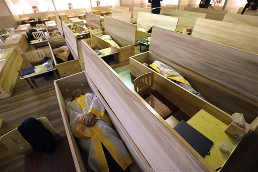 South Korean 'mock funerals' seek to ease life's stresses
