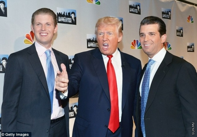 Trump's sons in Maldives