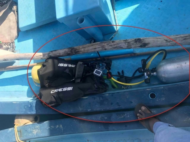 Diving jacket, oxygen cylinder recovered from area tourist went missing