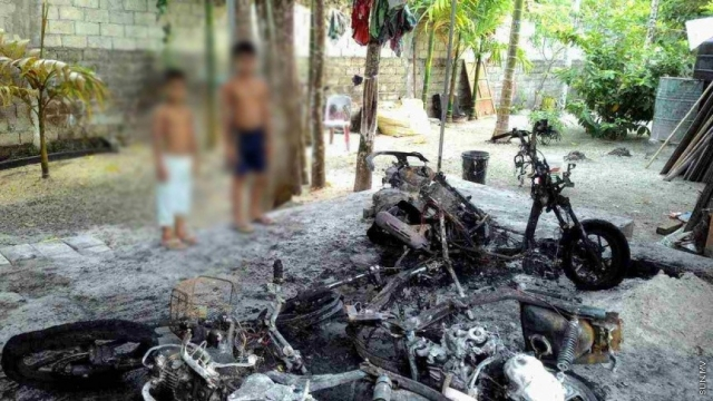 Vehicles in a Gan residence destroyed in arson attack