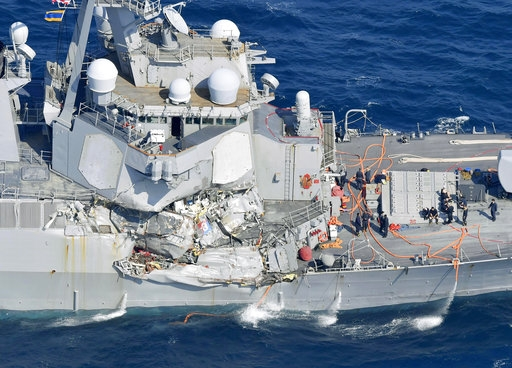 7 Navy crew missing, skipper hurt after collision off Japan