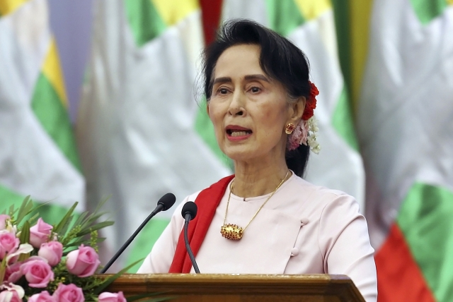 As Rohingya flee Myanmar, leader Suu Kyi skips UN meeting